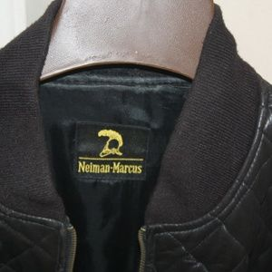 Neiman Marcus Jackets & Coats - Neiman Marcus Black Quilted Leather Jacket.